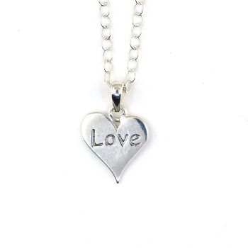 Sterling Silver Love Heart Necklace - Simple - Dainty - Minimalist
