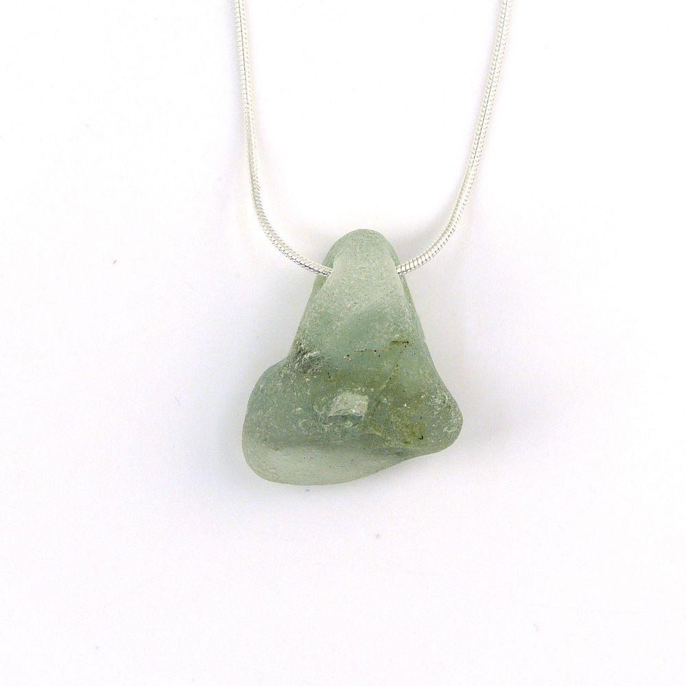 Bonfire Sea Glass Sterling Silver Necklace