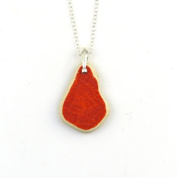 Scarlet Beach Pottery on Sterling Silver Necklace P143