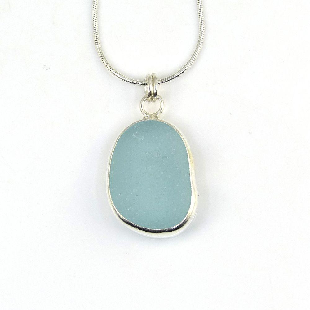 <!--002-->Bezel Set Sea Glass Pendants