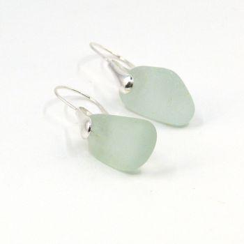 Seaham Pale Blue Sea Glass Sterling Silver Earrings e226