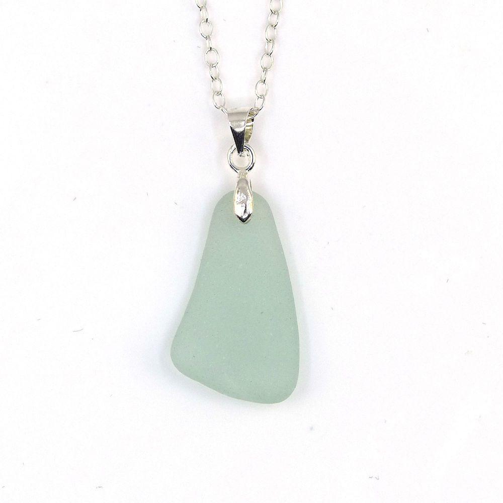 Seafoam Sea Glass Necklace  INDAYA