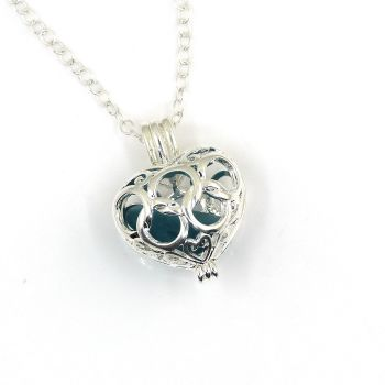 Julep Sea Glass Heart Locket Necklace L206