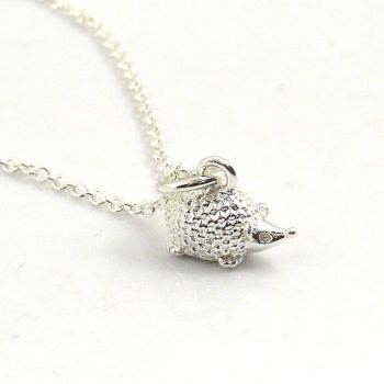 Sterling Silver Hedgehog Necklace - Simple - Dainty - Minimalist