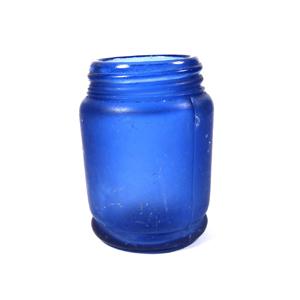 cobalt blue glass bottle