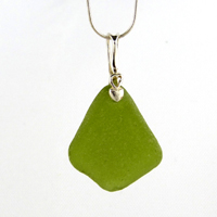 deep citron green sea glass