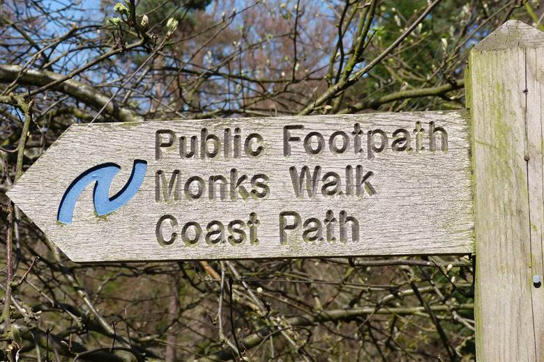warkworth footpath sign blog