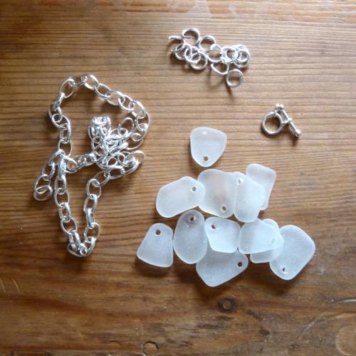 white sea glass charm bracelet 1 copy
