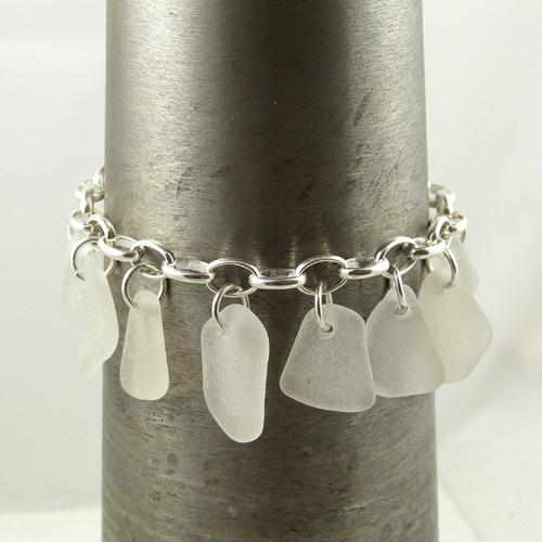 white sea glass charm braceet (2) copy