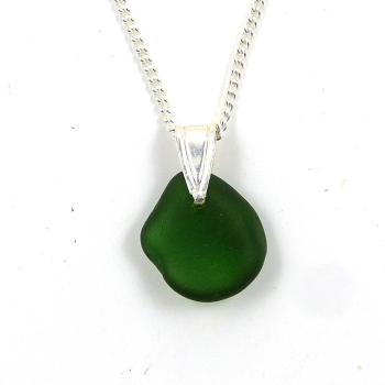 Green Sea Glass Necklace ISABELLA