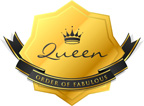 queenof order of fabulous badge_f 2inch