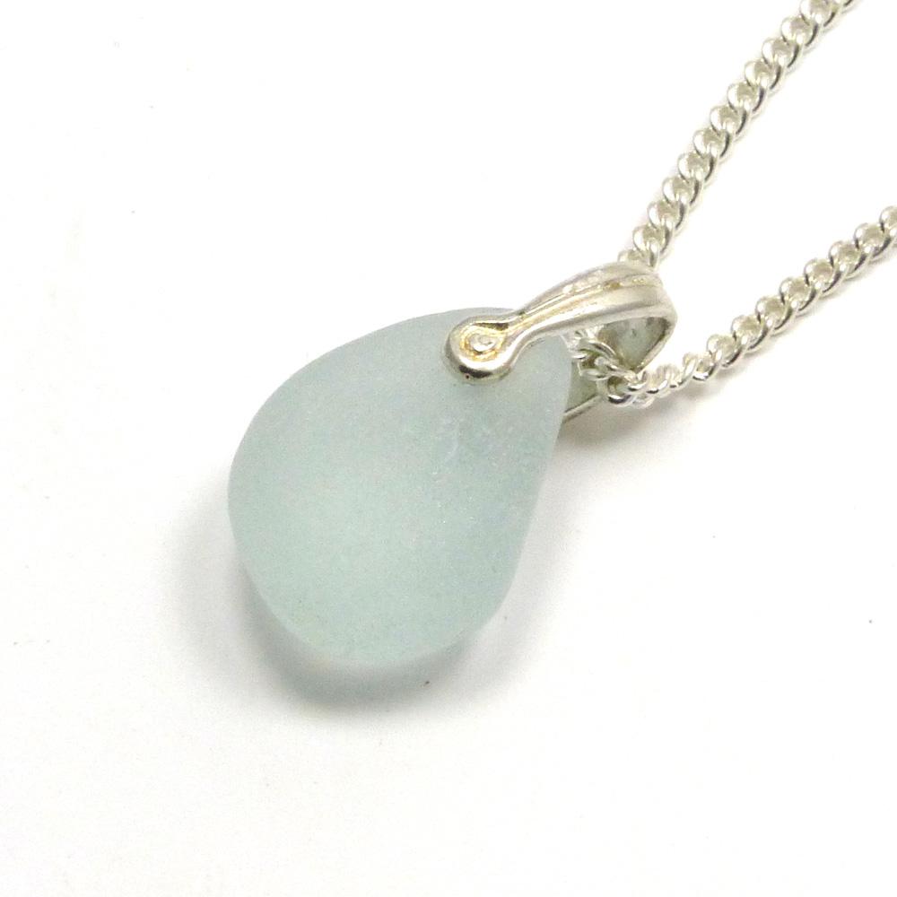 Pale Blue Sea Glass Necklace LOTTIE
