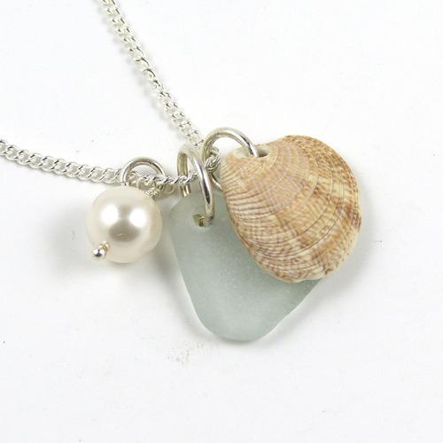 974a sea glass swarovski pearl shell the strandline (1)