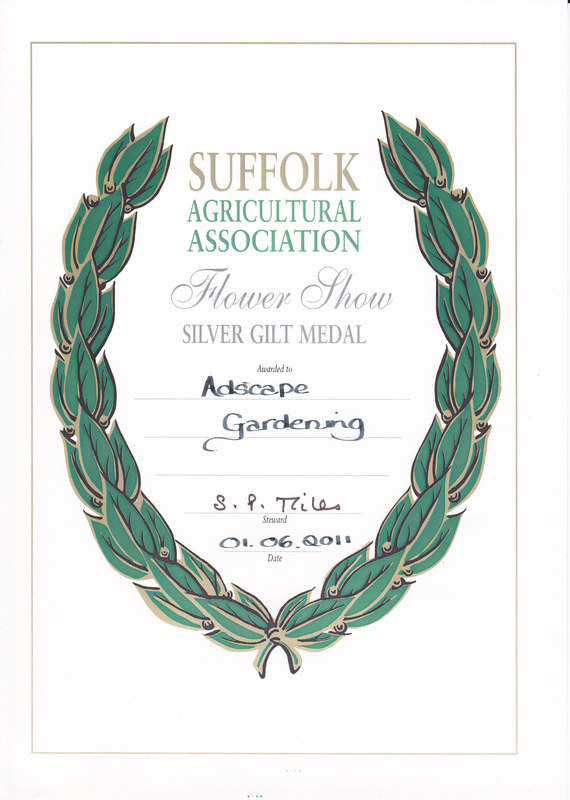 Suffolk Show Silver Gilt Award