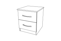 Ravenna 2 Drawer Bedside