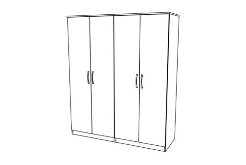 Ravenna 4 Door Wardrobe - TALL