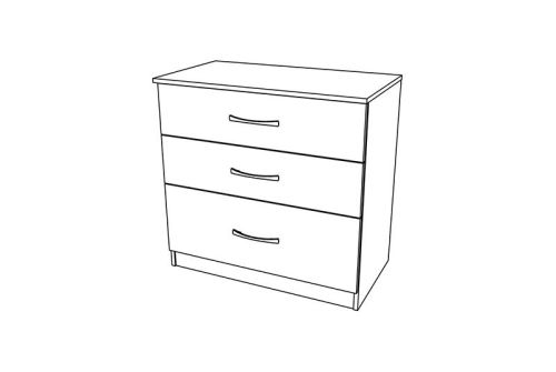 Siena 3 Drawer Chest with 1 Deep Drawer