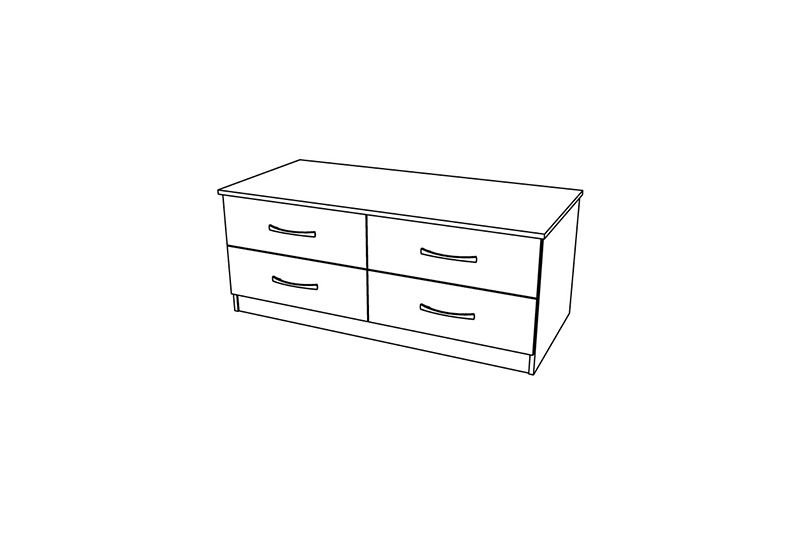Siena 4 Drawer Twin Chest