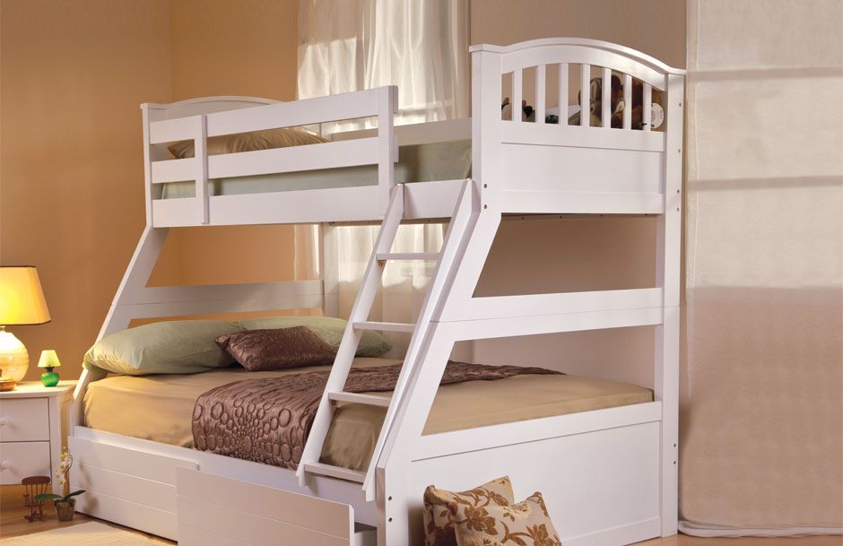 Apollo Triple Bunk - White