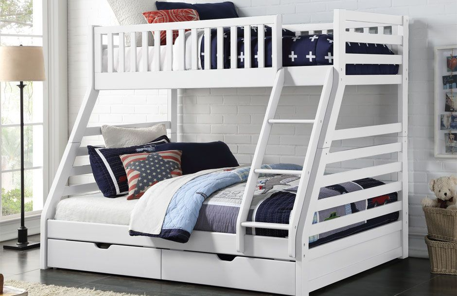 Space Triple Bunk - White