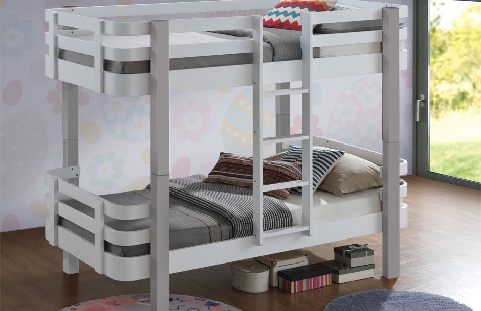 Jazzy Bunk Bed - White & Grey