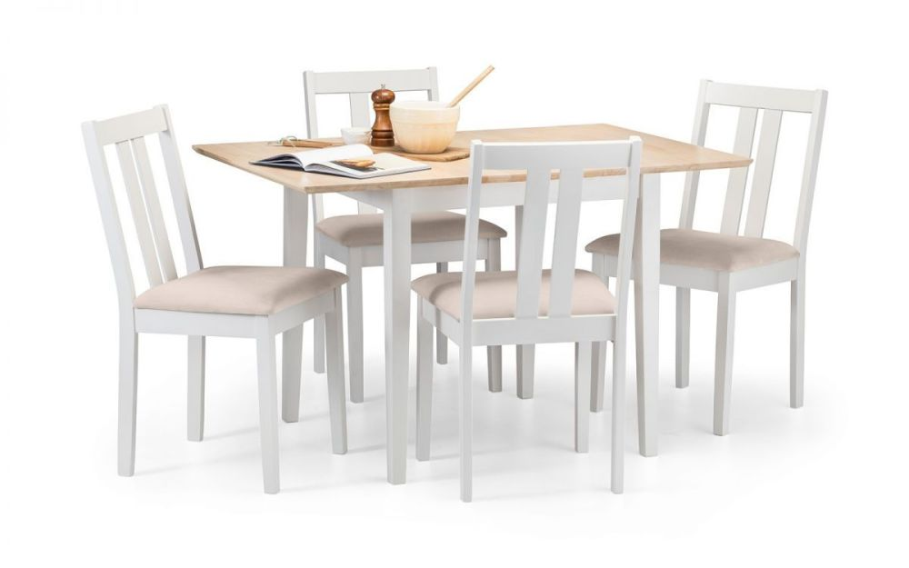 Rufford 2-Tone Extending Dining Set with 4 Chairs