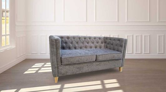 York 2 Seater Sofa - Slate Grey