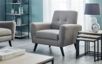 Monza Chair - Grey Linen