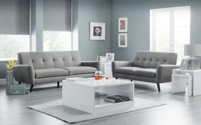 Monza 2 Seater Sofa - Grey Linen
