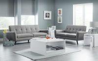 Monza 3 Seater Sofa - Grey Linen