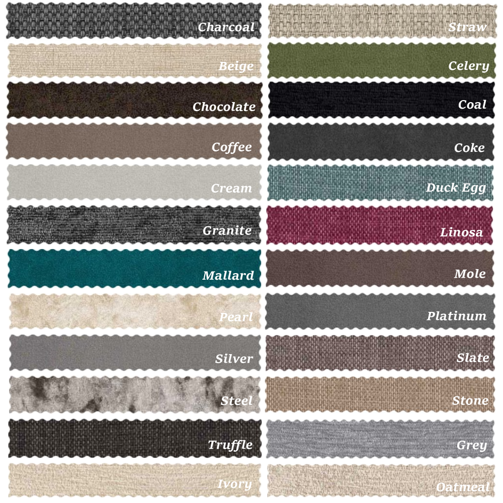 Dreamland Beds Colour Chart Png