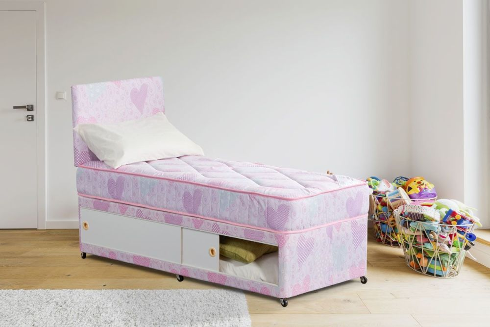 Tots2Teens Girls 3Ft Divan Set