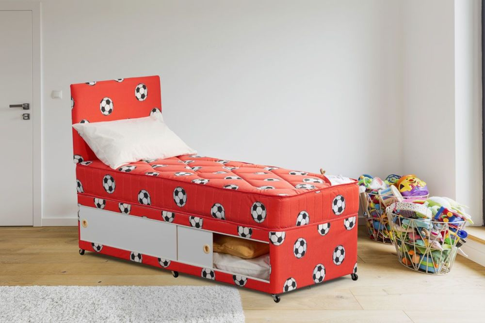Tots2Teens Football 3Ft Divan Set