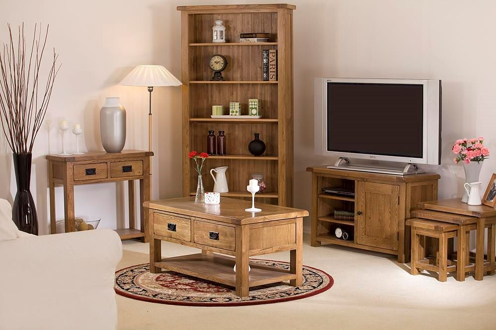 Rustic Oak Living, Dining & Bedroom Collection