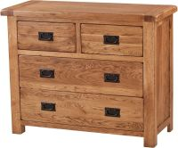 Rustic Oak  2+2 Chest of Drawers