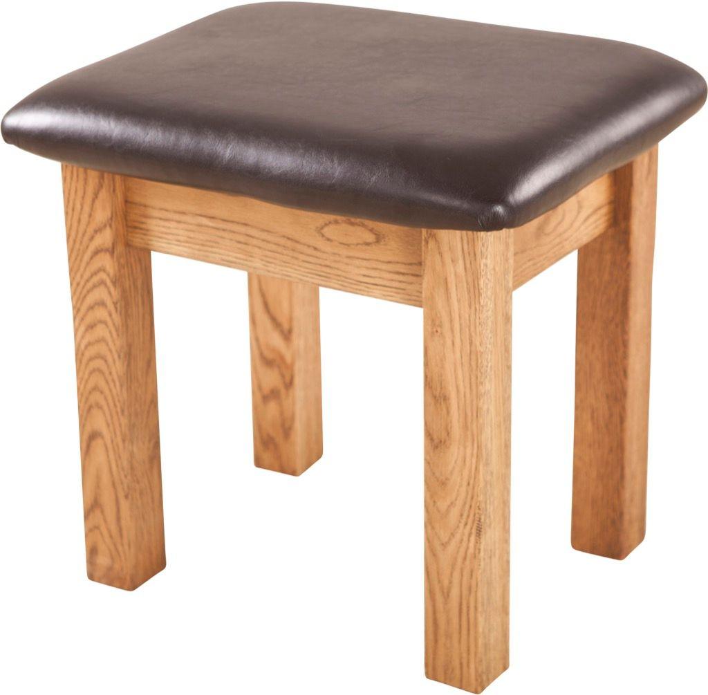 Rustic Oak  Dressing Table Stool