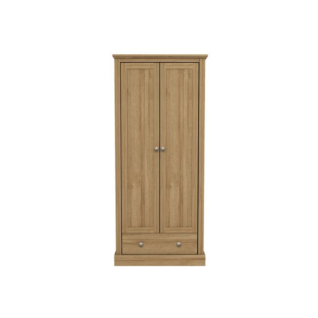Devon Oak 2 Door Wardrobe