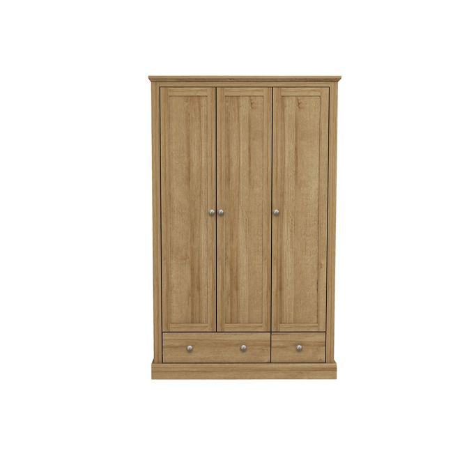 Devon Oak 3 Door Wardrobe