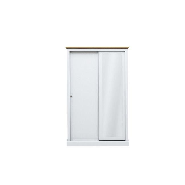 Devon White & Oak 2 Door Sliding Wardrobe