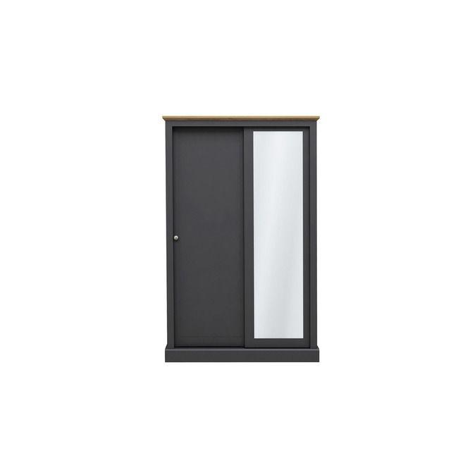 Devon Charcoal & Oak 2 Door Sliding Wardrobe