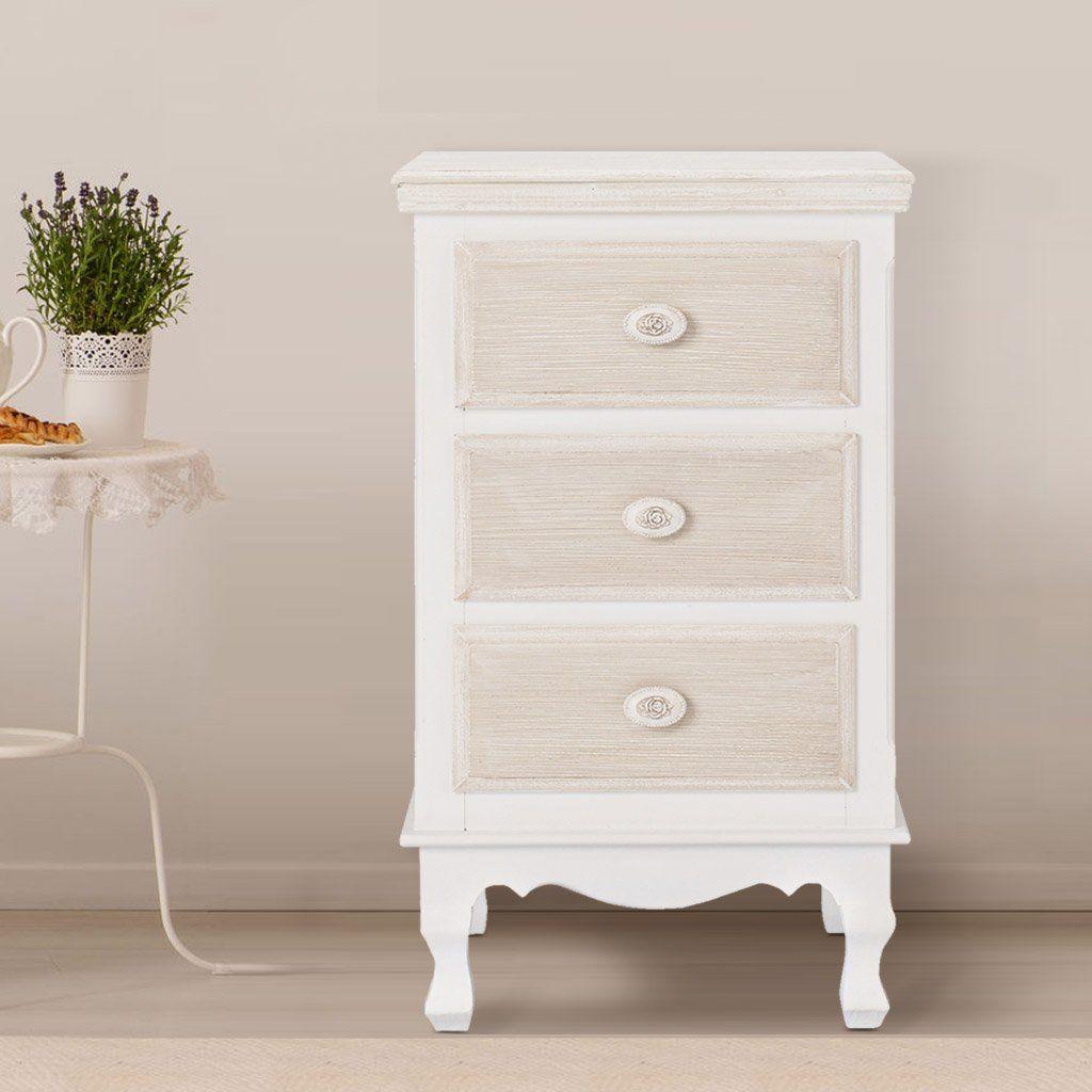 Juliette 3 Drawer Bedside Cabinet