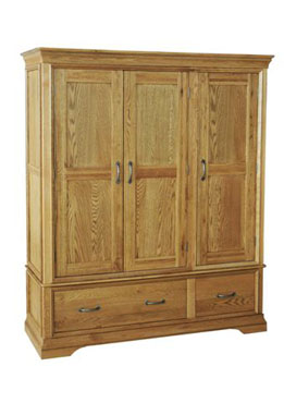 Bordeaux Triple Wardrobe with Drawers