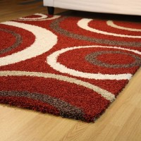 Aura shaggy red circles - 3 sizes
