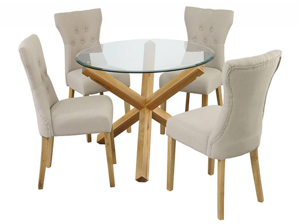 Oporto Dining Table with 4 Naples Chairs