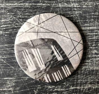 Monoprint Mirror Flotsam #2