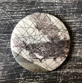 Monoprint Mirror Flotsam #3