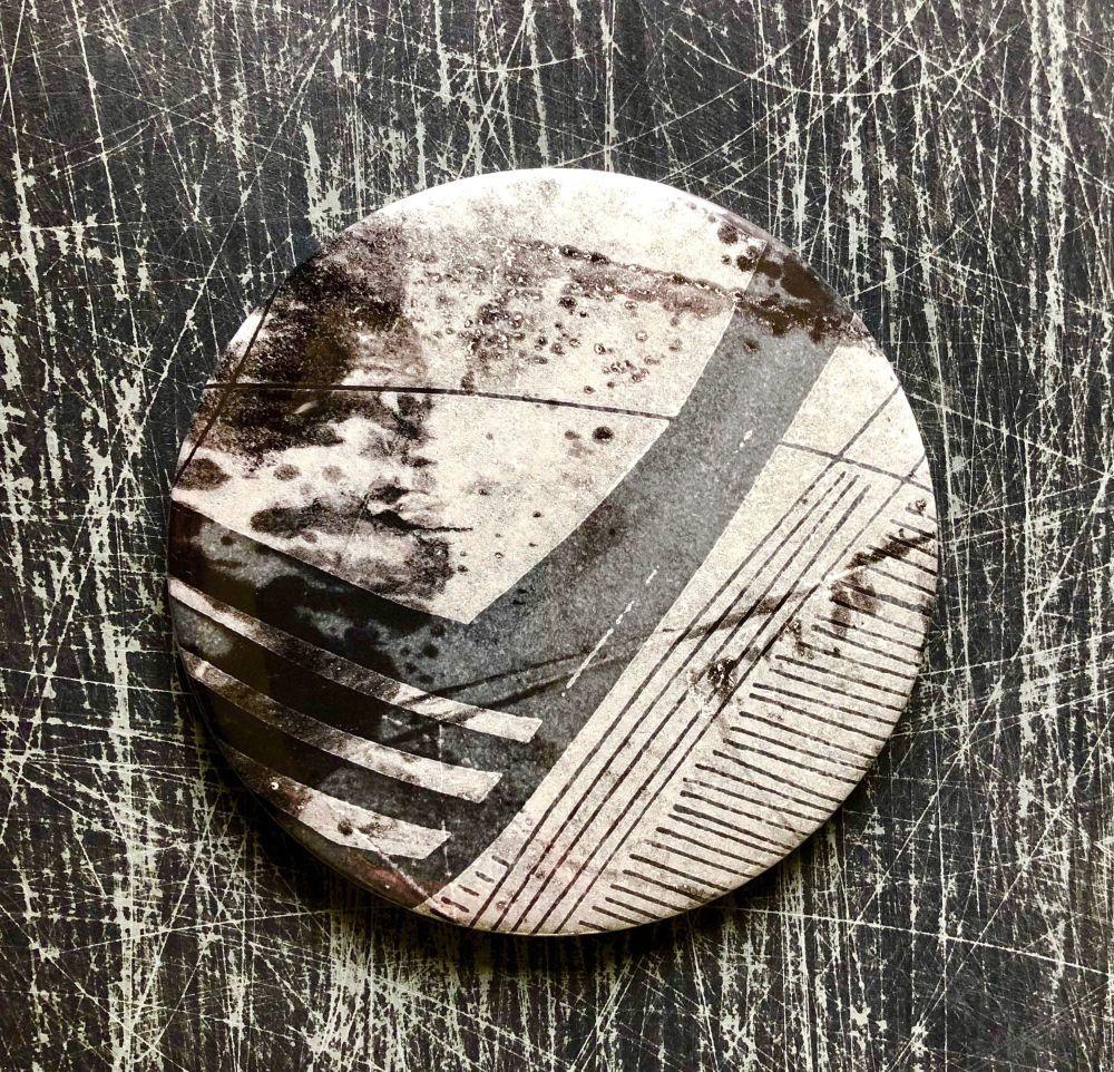 Monoprint Mirror Flotsam #4