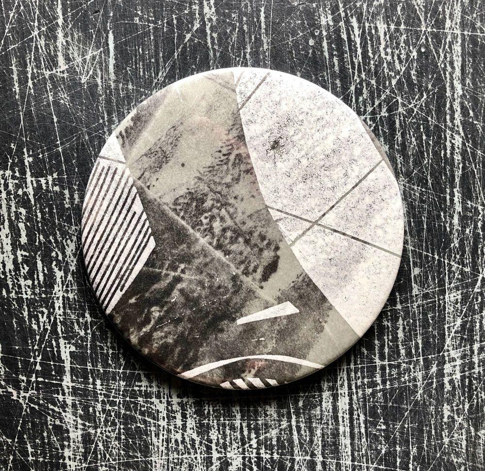 Monoprint Mirror Flotsam #8