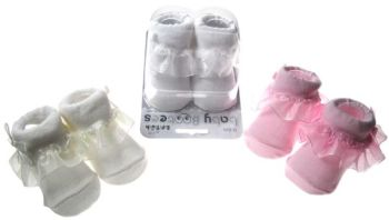 Boxed Frill Socks 0-6 Months