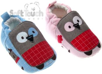 Owl Design Soft Soled Shoes
